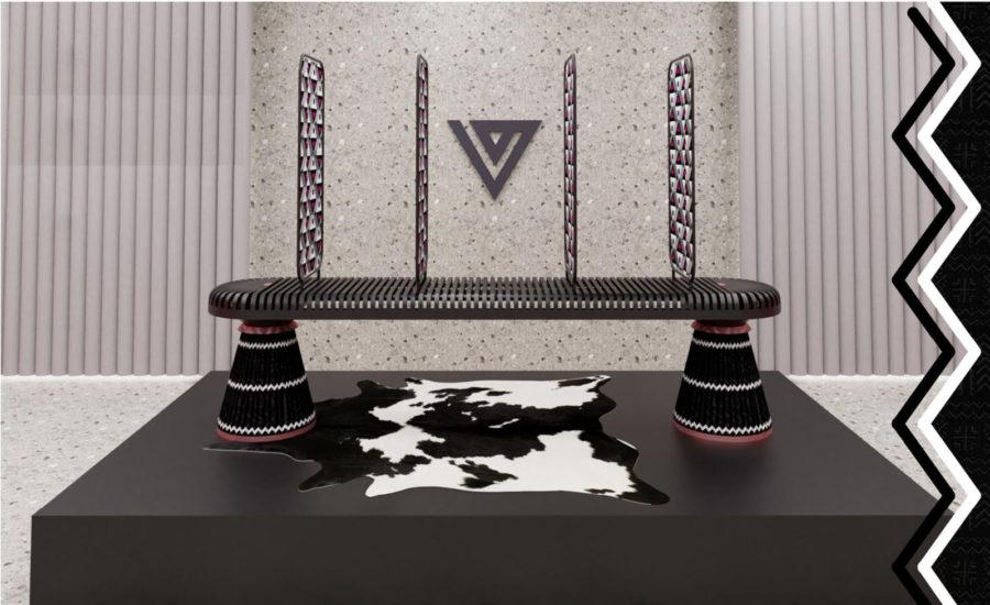 Mbokodo Bench by Anele Vezi