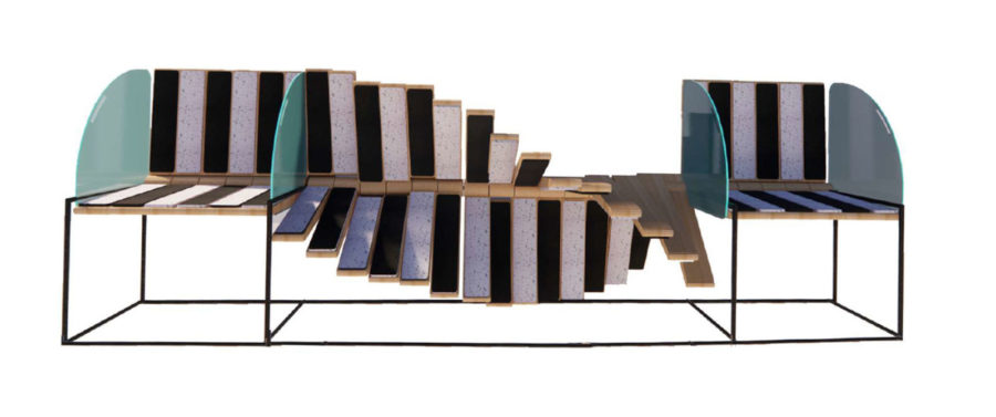Fluid Spine Bench by Bebe Donnely