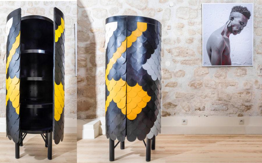 The Mjojo cabinet was inspired by Jojo water tanks